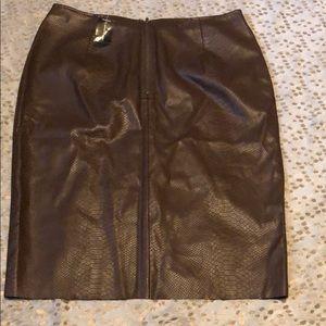 643f7c98a247f Ashley Stewart Skirts - Plus size faux leather skirt
